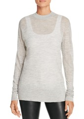 DKNY Pure Heathered Extra-Long Sleeve Sweater