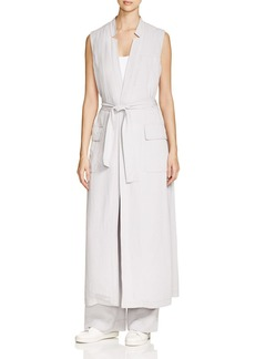 DKNY Pure Long Belted Trench Vest