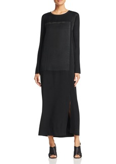 DKNY Pure Mixed Media Maxi Dress