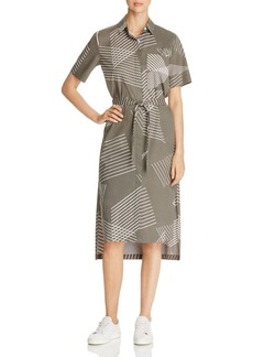 DKNY Pure Printed Short Sleeve Shirt Dress
