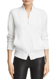 DKNY Pure Rib-Trim Bomber Jacket