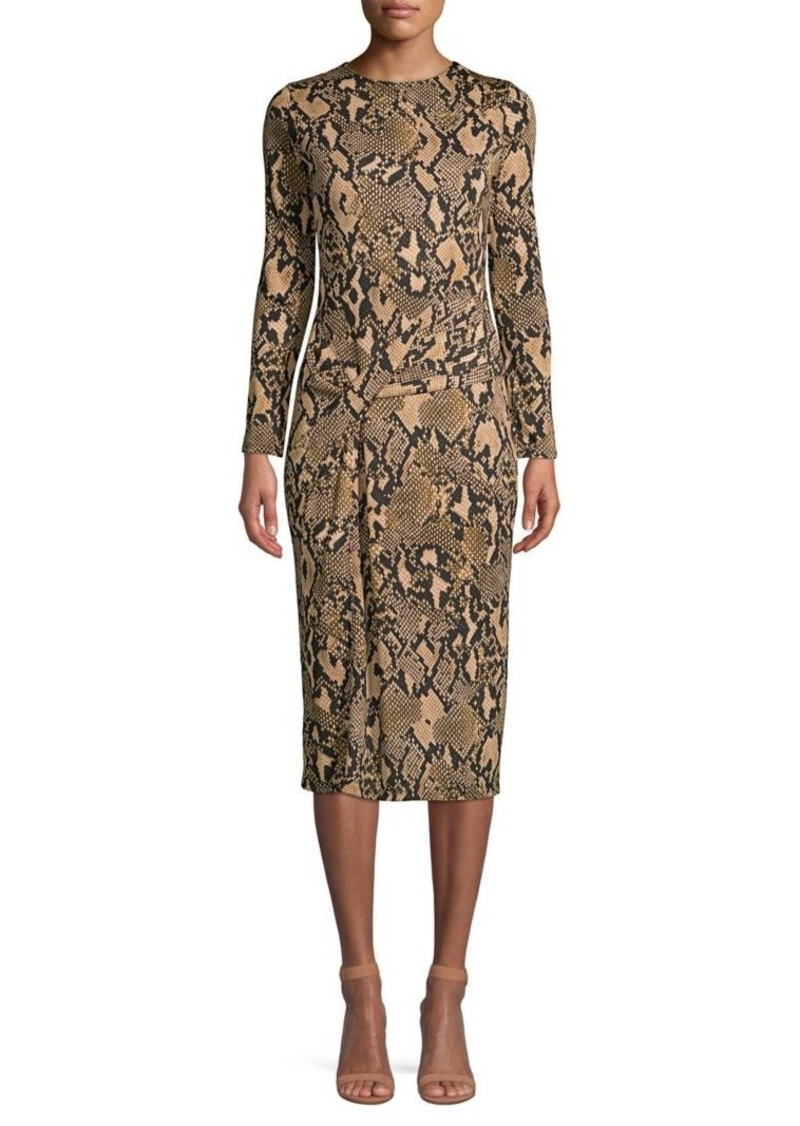 DKNY Donna Karan Python-Print Jersey Knit Dress