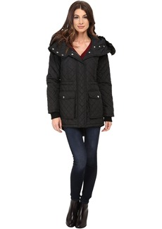 DKNY Quilted Anorak w/ Faux Fur Split 53989-Y5