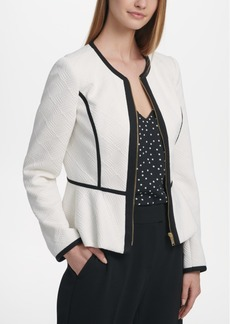 Dkny Quilted Peplum Jacket