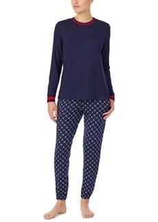 Dkny Raglan Top & Jogger Pants Pajamas Set