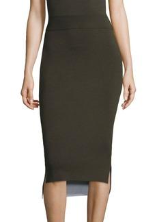 DKNY Reversible Merino Wool Midi Skirt