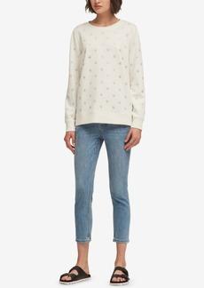 Dkny Rhinestone-Embellished Sweatshirt, Created for Macy's
