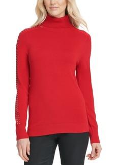 Dkny Rhinestone-Embellished Turtleneck Sweater