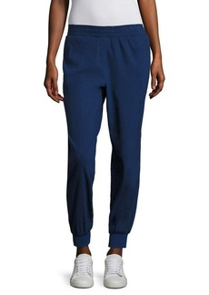 DKNY Rib Trim City Stretch Track Pants