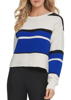 DKNY Ribbed Colorblocked Sweater