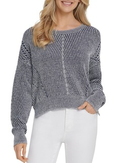 DKNY Ribbed Dropped-Shoulder Sweater