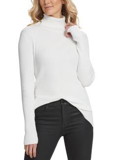 Dkny Ribbed Turtleneck Sweater