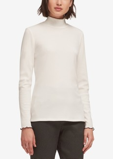 Dkny Ribbed Turtleneck Top, Created for Macy's