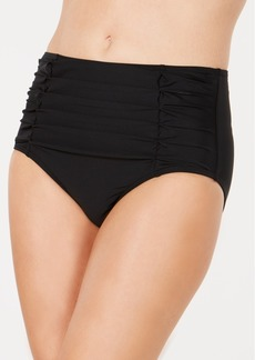 Dkny Ruched High-Waisted Bikini Bottoms, Created For Macy's Women's Swimsuit