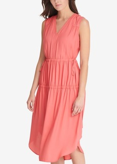 Dkny Ruched V-Neck Dress, Created for Macy's
