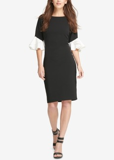 Dkny Ruffle-Cuff Sheath Dress, Created for Macy's