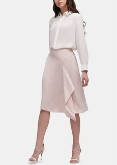 Dkny Ruffle-Trim Pencil Skirt