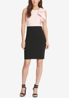 Dkny Ruffled Colorblocked Sheath Dress, Created for Macy's