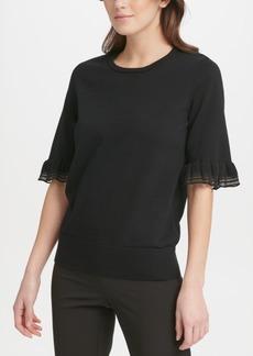 Dkny Ruffled-Sleeve Sweater