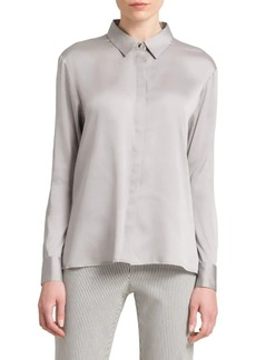 DKNY Satin Collared Blouse