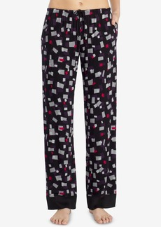 Dkny Satin-Trim Printed Pajama Pants Y2719322