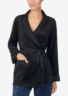 Dkny Satin-Trimmed Wrap Pajama Jacket