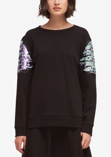 Dkny Sequin-Trim Sweater, Created for Macy's