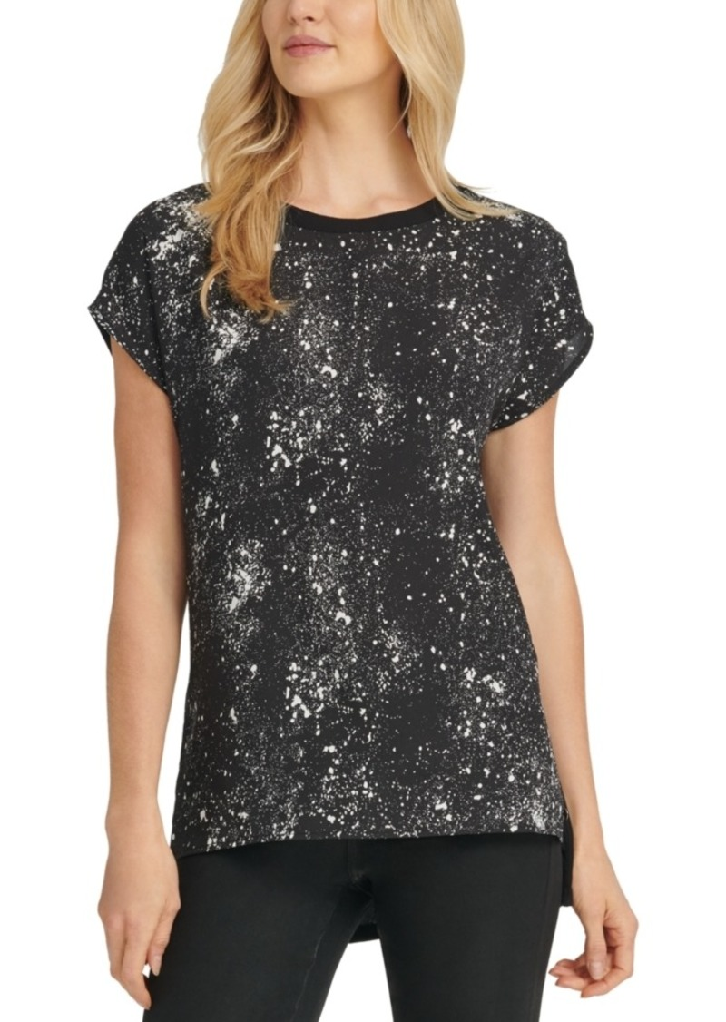 Dkny Paint Splattered Blouse