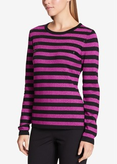 Dkny Sequined Striped Sweater
