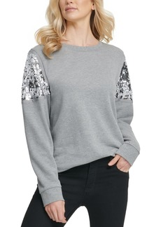 Dkny Sequined Sweatshirt