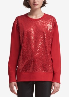 Dkny Sequined Sweatshirt, Created for Macy's