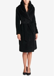 Dkny Shawl-Collar Wrap Coat