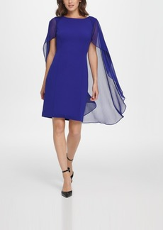 Dkny Sheath with Chiffon Split Sleeves