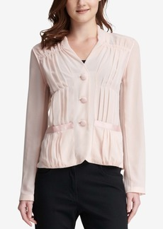 Dkny Sheer Long-Sleeve Blouse