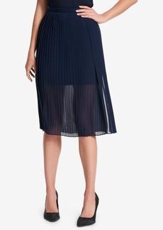 Dkny Sheer Pleated Skirt