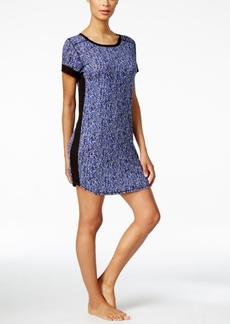 Dkny Short-Sleeve Contrast-Trim Sleepshirt