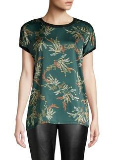 DKNY Donna Karan Short-Sleeve Printed Top