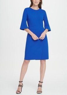 Dkny Short Sleeve Wrap Skirt Dress