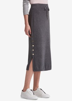 Dkny Side-Slit Sweater Skirt, Created for Macy's