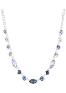 """Dkny Silver-Tone Crystal Collar Necklace, 16"""" + 3"""" extender"""