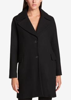 Dkny Single-Breasted Wool-Blend Walker Coat