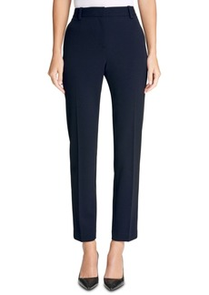Dkny Stretch Crepe Essex Straight-Leg Dress Pants