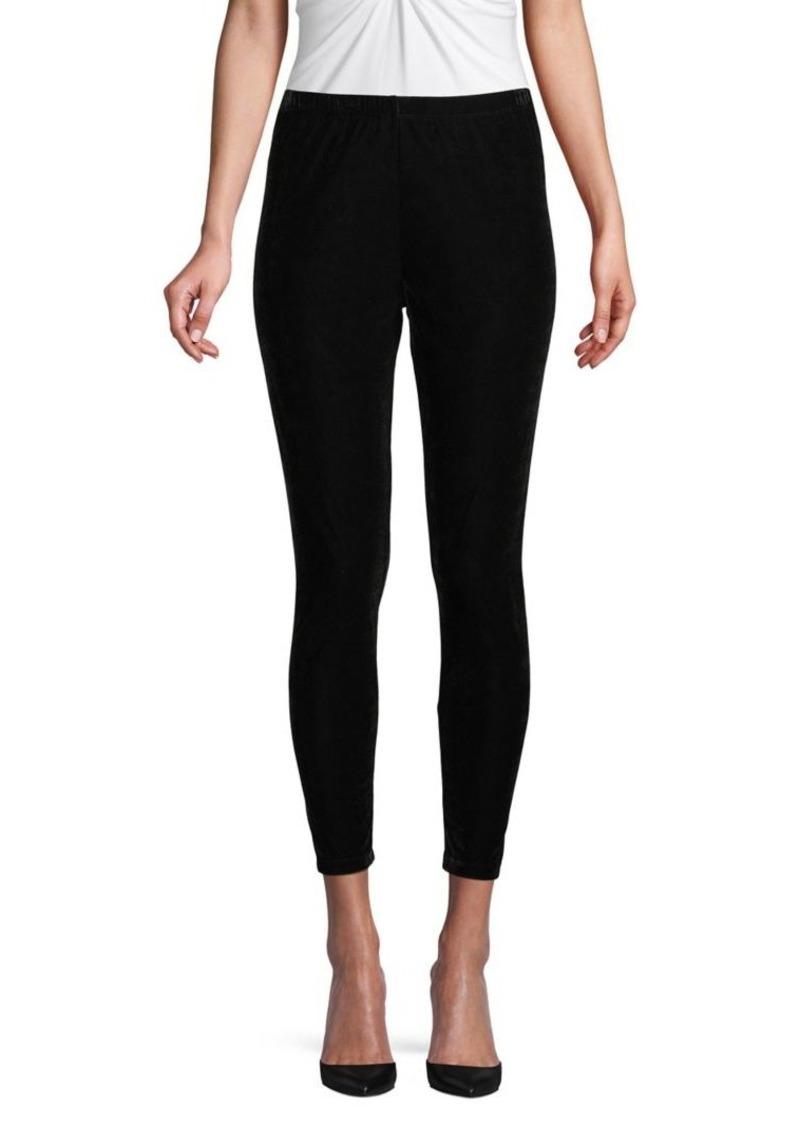 DKNY Donna Karan Skinny Velvet Leggings