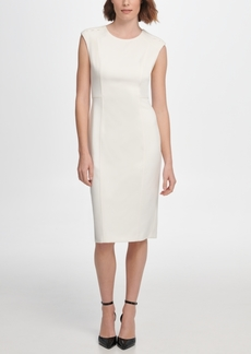 Dkny S/L Sheath with Shoulder Detail