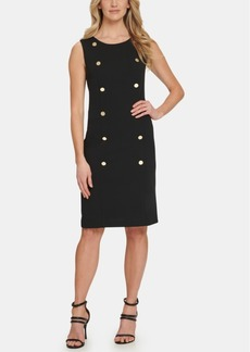 Dkny Sleeveless Button Sheath