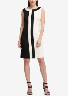Dkny Sleeveless Colorblocked Dress, Created for Macy's