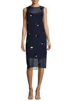 DKNY Sleeveless Embellished Dress