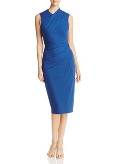 DKNY Sleeveless Jersey Drape Dress