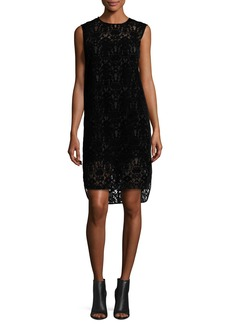 DKNY Sleeveless Lace Shift Dress