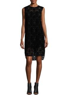 DKNY Sleeveless Lace Shift Dress